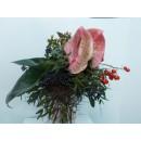 Mazzo floreale con Anthurium rosa