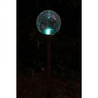 PERLE DE RROSEE 12cm - Vetro Decor LED bianco+RGB