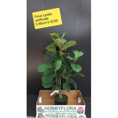Ficus Lyrata artificiale ht 90 cm